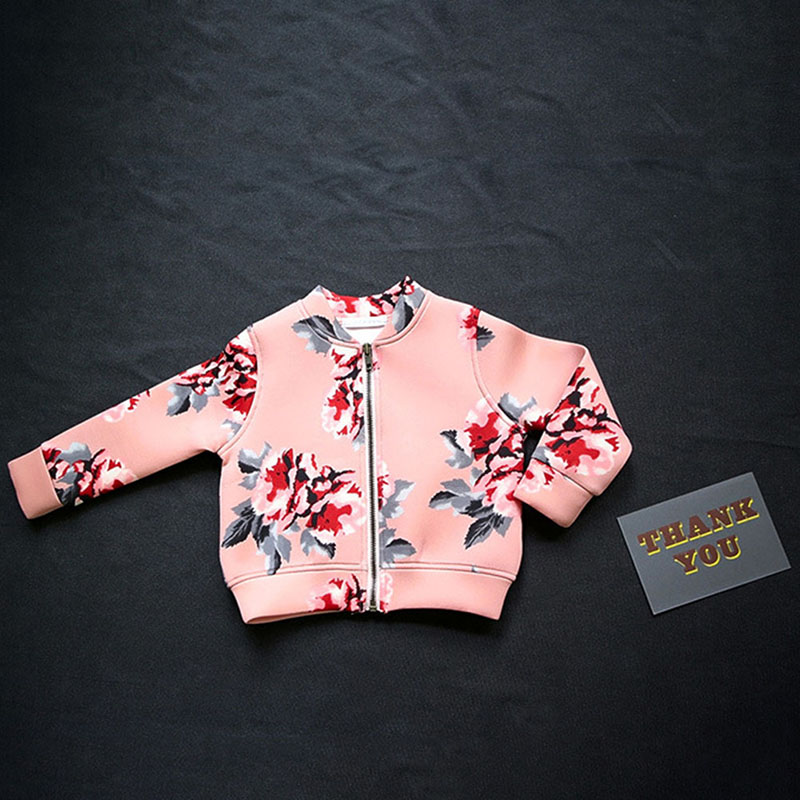 New Infant Kids Child Girl Long Sleeve Flower Pattern Coat Jacket Outerwear Spring Atumm in Jackets Coats from Mother Kids