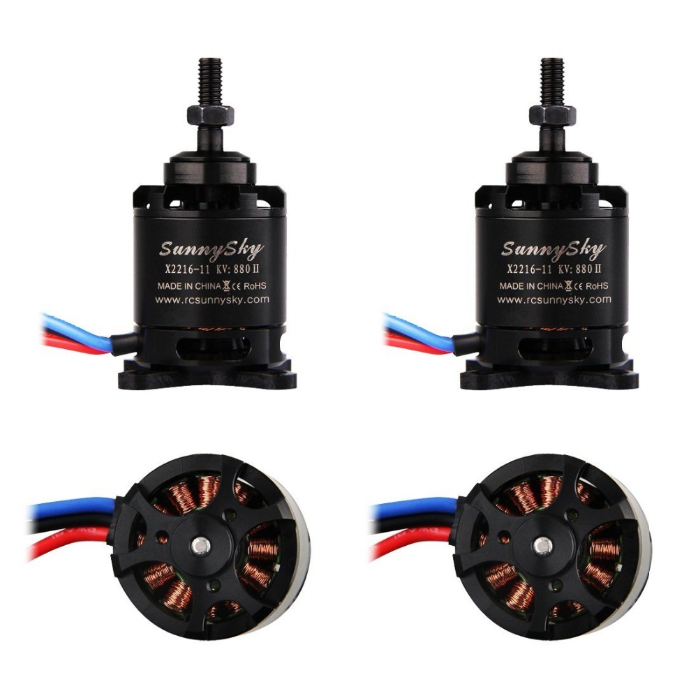 Weyland 4 pcs SunnySky X2216 880kv Outrunner Brushless Motor for RC Airplane 4set lot original sunnysky x2206s 2100kv 2380kv outrunner brushless motor cw ccw x2206s for qav250 330 rc multicopter