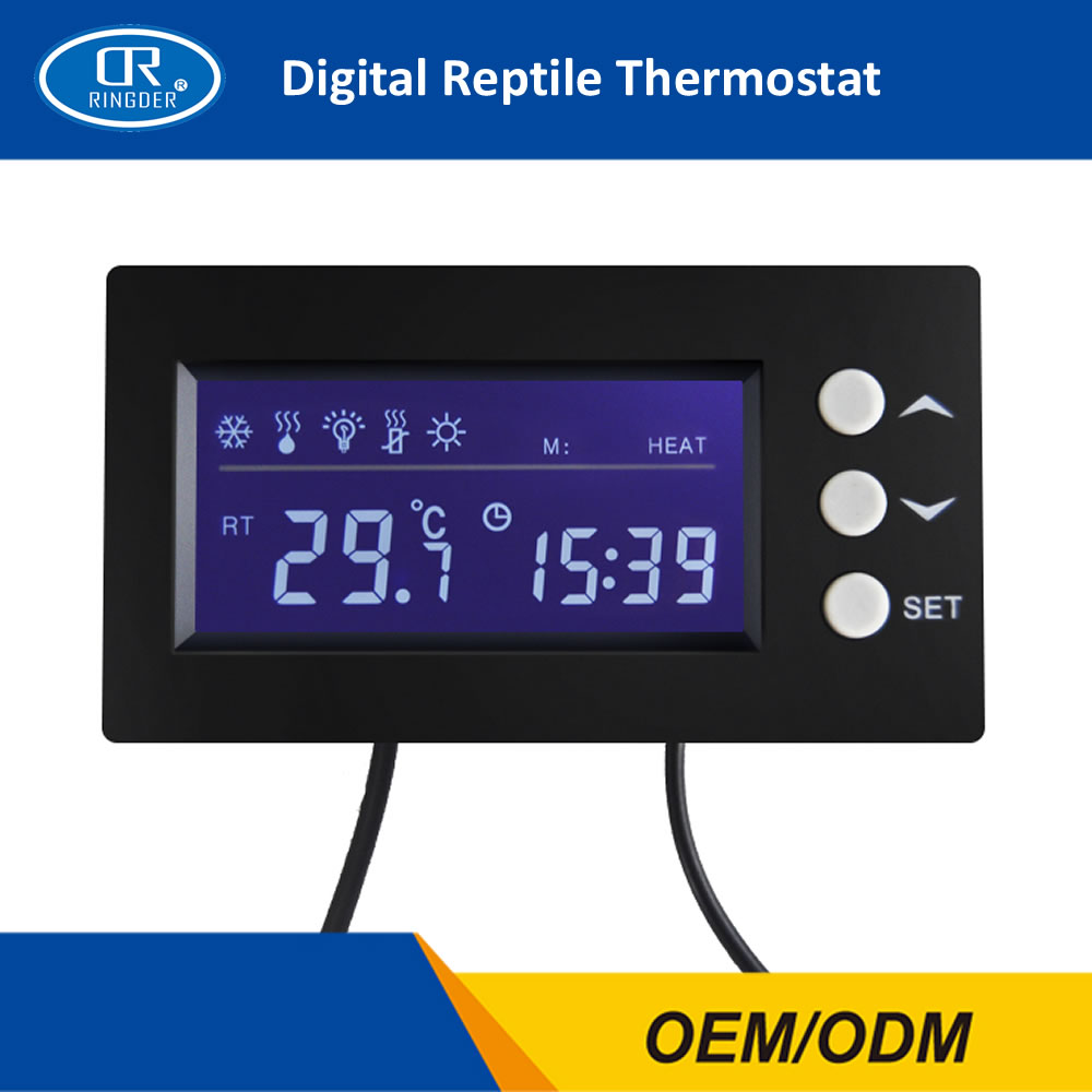 RINGDER DTC-100 0-50C Digital Day/night Reptile Dimming Thermostat with Plug Socket Regulator Dimmable Temperature Controller 0 50c pid controller heating thermostat reptile dimming digital thermostat temperature controller day night thermometer timer