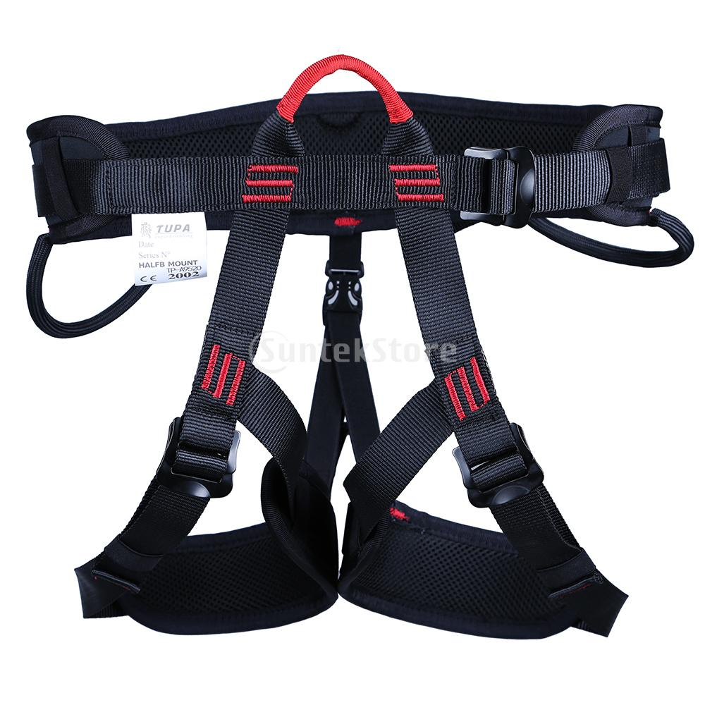 Rock Climbing Half Body Harness Safety Seat Sitting Bust Belt for Outdoor Downhill Tree Arborist Rappel Rescue Gear Equipment full body outdoor rock tree climbing rappelling mountaineering safety seat bust sitting belt harness protection gear
