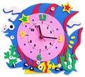 12 Artesanal relógio crianças desenvolver a inteligência formação interesse criativo pasta DIY brinquedos Frete Grátis