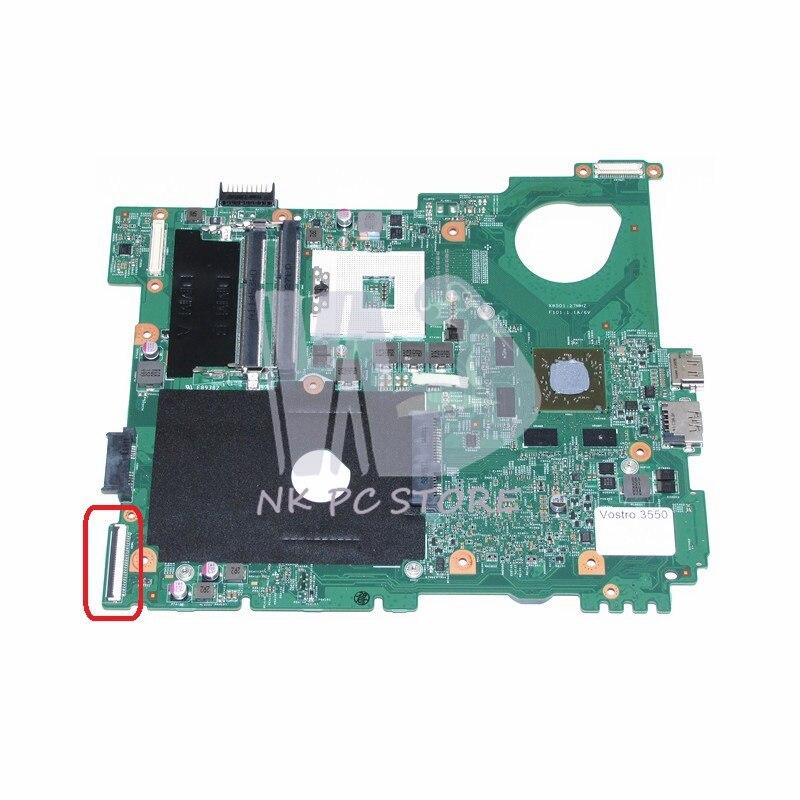 NOKOTION CN-0XV36V 0XV36V MAIN BOARD For Dell Vostro 3550 V3550 Laptop Motherboard HM67 DDR3 HD 6630M Video Card 1GB nokotion cn 0j2ww8 laptop motherboard for board inspiron n5110 nvidia gt525m 1gb graphics hm67 ddr3 core i7 mainboard
