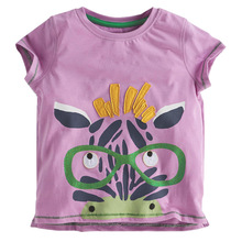 kidst shirt 2016 new babys fashion t shirts baby zebra printed floral boys girls t shirts