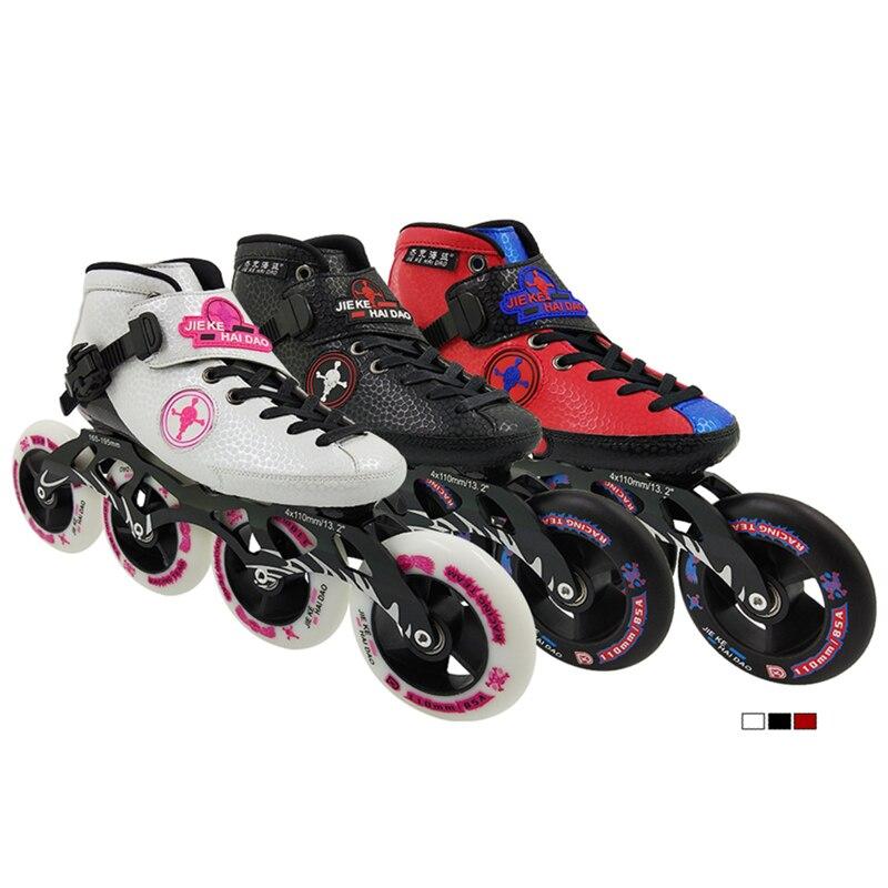 Rollschuhe, Skateboards Und Roller Skate-schuhe 2018 Jiekehaidao Professionelle Geschwindigkeit Skate Schuhe Inline Skating Patines Boot Erwachsene Kind Skate Schuh Frauen Männer Skate Carbon Erwachsene