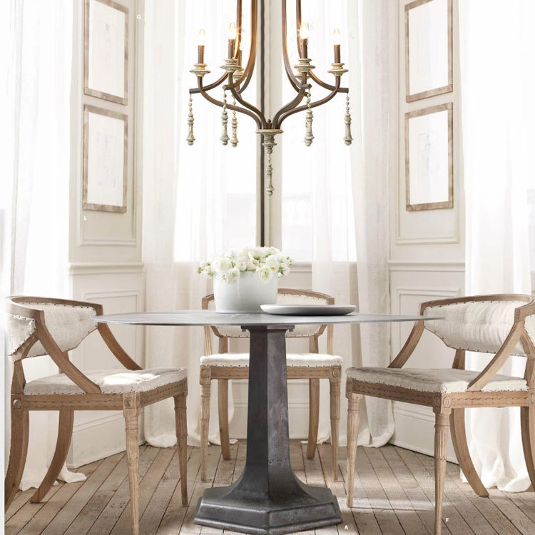 Nordic Expression American French Country Vintage Wrought Iron Lamps Jarvis Wood Chandelier In Pendant Lights From