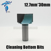 CNC Cleaning Bottom Router Bit 12 7 X 30mm 3D Woodworking Tungsten Milling Cutter Disposable Cutting