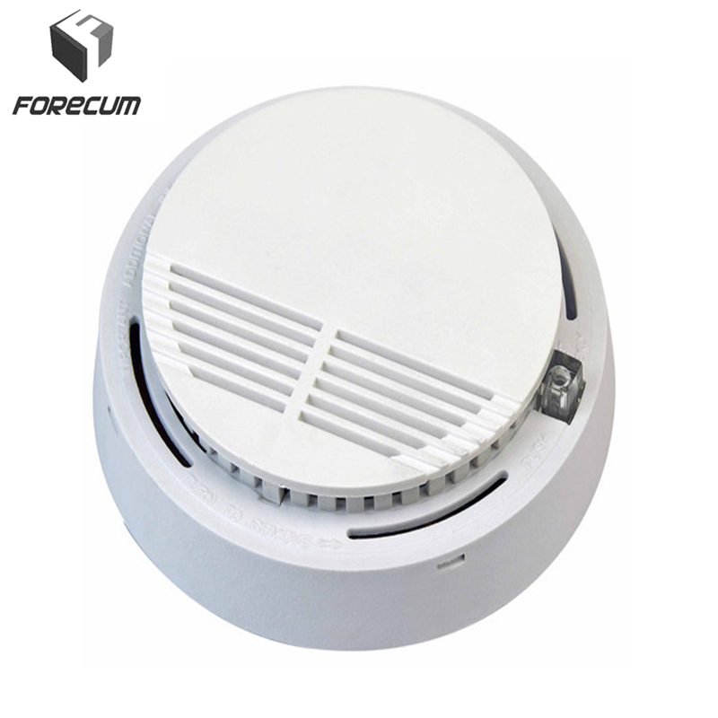 2Pcs/Set Security-Smoke Detector Fire Alarm Sensor Monitor for Home Security Photoelectric Smoke Alarm Independent Smoke Sensor hot home security photoelectric cordless smoke detector fire sensor alarm white
