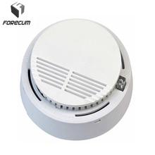 2Pcs/Set Security-Smoke Detector Fire Alarm Sensor Monitor for Home Security Photoelectric Smoke Alarm Independent Smoke Sensor