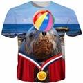 Лето хип-хоп майка мужчины/женщины Животных печати 3d футболки Смешно Шоу Дельфинов Футболки повседневная коротким рукавом camisa masculina