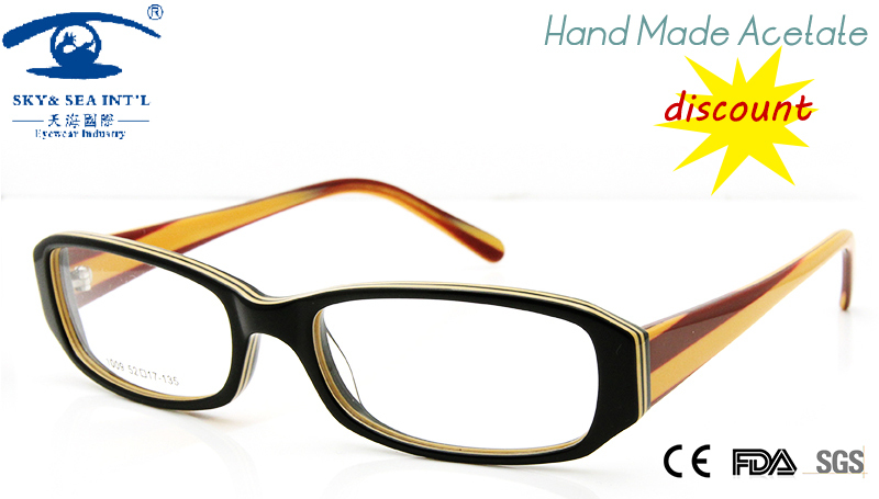 2015 cheap eyeglasses frame women hand made acetate prescription eyewear fashion designer oculos grau female