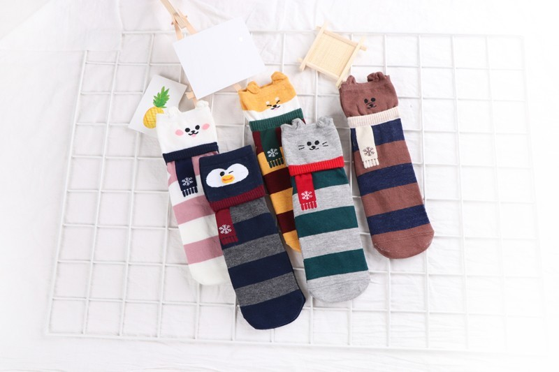 HTB1QoGEKr1YBuNjSszeq6yblFXaB - New Design Animal Patterned Short Socks Women shiba inu Cartoon Ankle Socks Female Fashion Funny Socks Cotton Hosiery Christmas