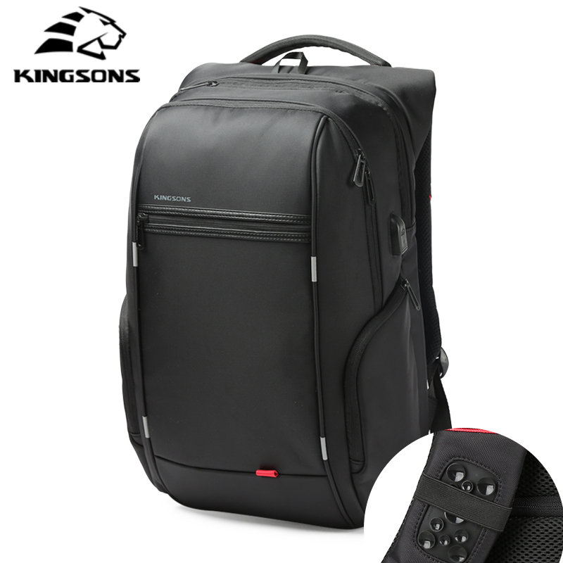Kingsons USB Charge Anti Theft Laptop Backpack Men Multifunction Waterproof 13/15/17 inches Backpack For Teens Male Travel bag