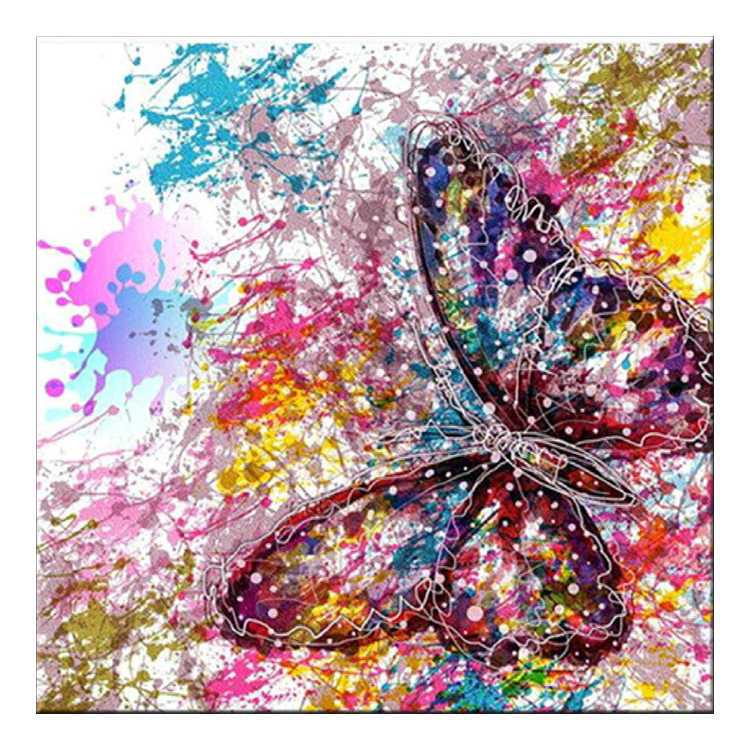 Full drilling Diamond Embroidery Butterfly Landscape Abstract Color Round drill Cross Stitch diamond painting Home Decor gift