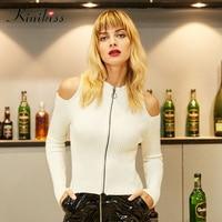 Kinikiss 2017 Spring Women Super Elastic Sexy Club Long Sleeve Women Dress Slim Bodycon Knitted Sweater