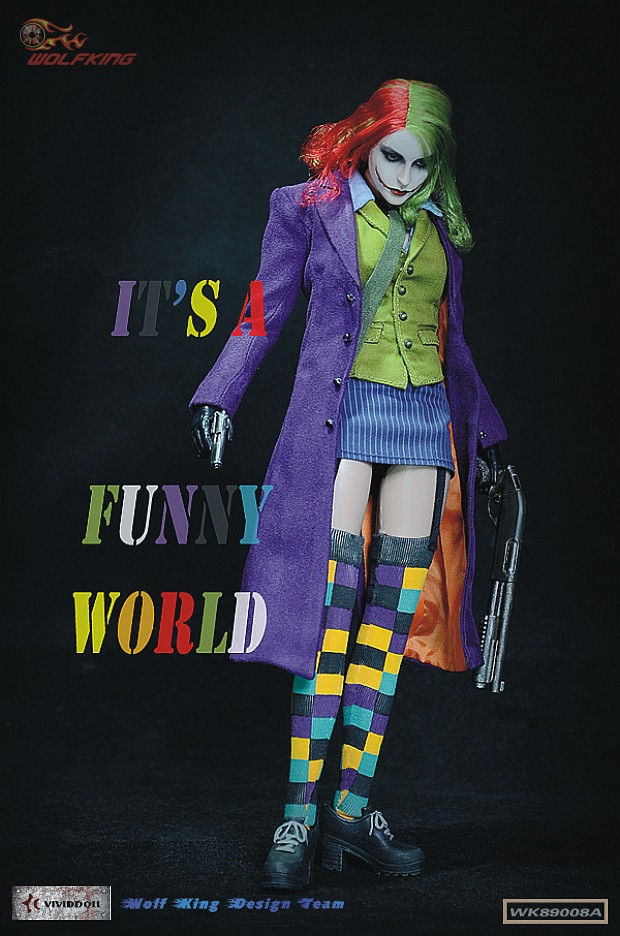 1:6 scale figure doll female Joker 12 Action figure doll Collectible model plastic toy 1 6 scale female figure doll sexy girl steam girl emily 12 action figures doll collectible figure model toy gift