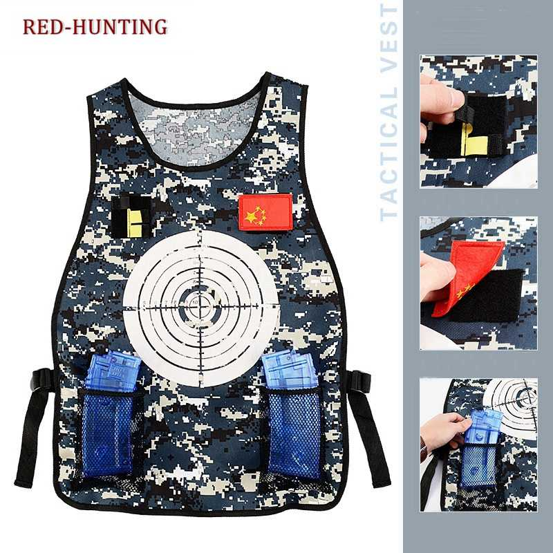 04b61a655d2b Outdoor Paintball Sports Hunting Children Vest Paintball Nerf Target Vest  for Kids