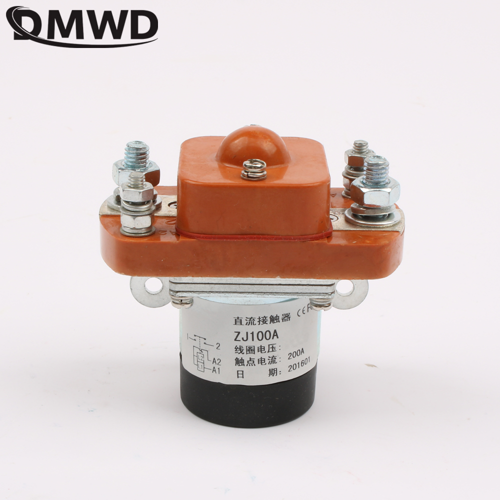 ZJ100A NO (normally open) 12V 24V 36V 48V 60V 72V 100A DC Contactor for motor forklift electromobile grab wehicle car winch free shipping 12v 24v 36v 48v 72v battery meter digital voltage gauge for electric vehicles forklift truck club car
