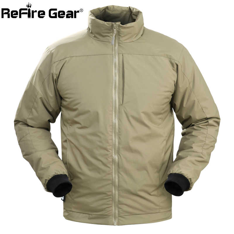 ReFire Gear Winter Waterproof Warm Tactical Jacket Men Thermal Portable Down Cotton Padded Coat US Army Military Parkas Jackets