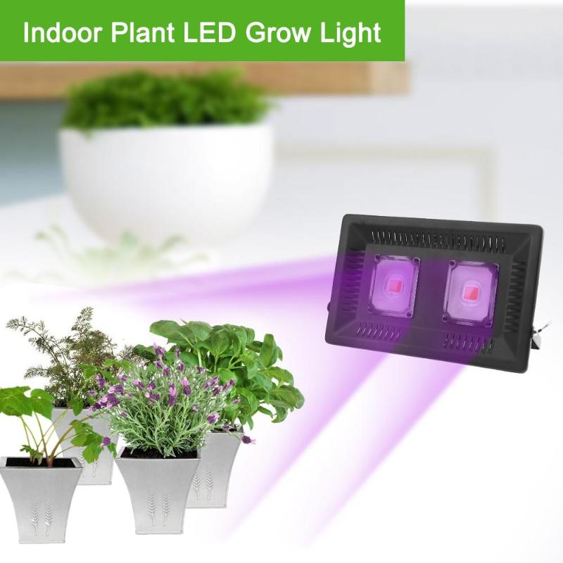 AC 220V COB LED Plant Growth Lamp COB LED Full Spectrum Waterproof Indoor Plant Growth Lamp Vegetable Growing Aluminum Light