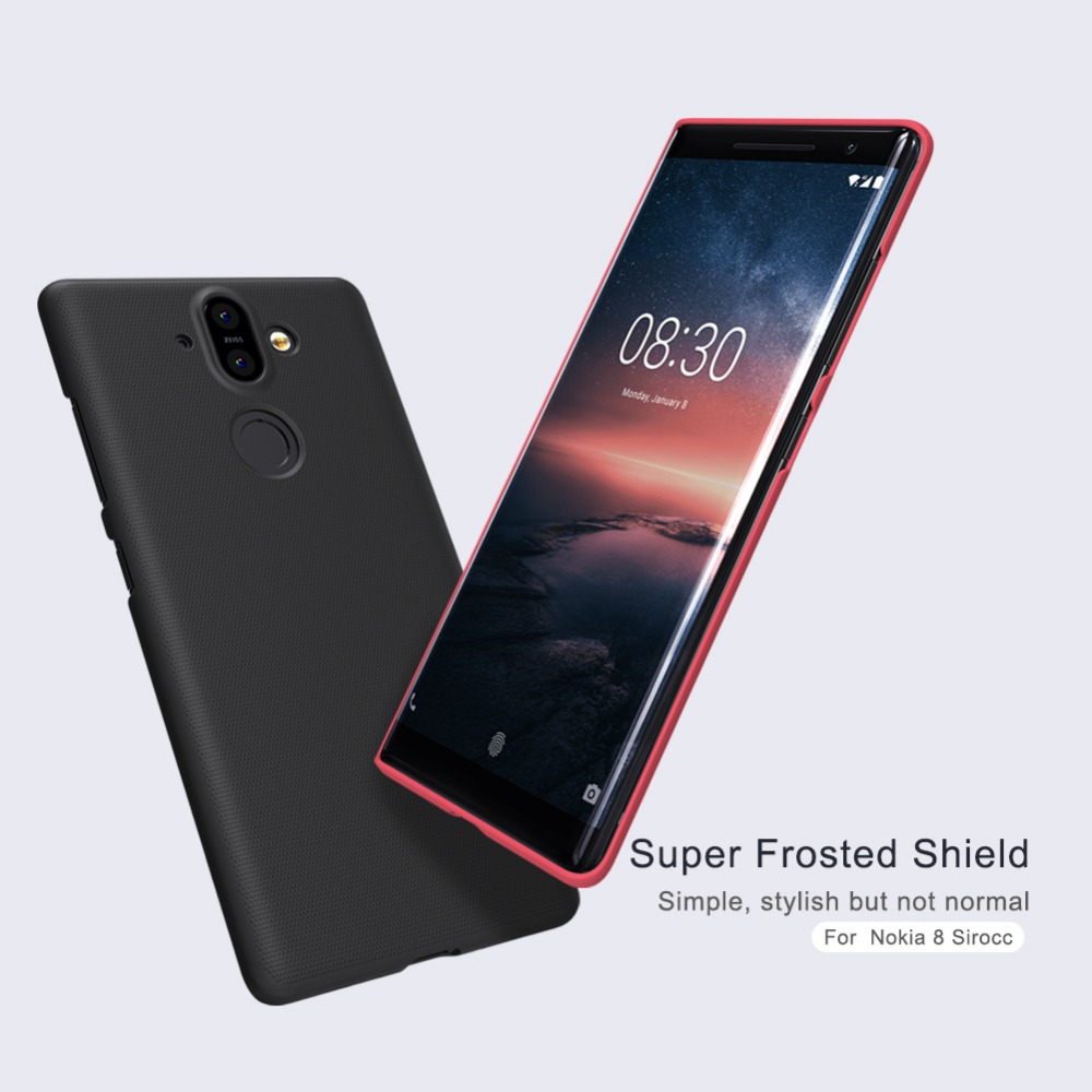 Nillkin Phone-Case Frosted-Shield Nokia 8-Sirocco Screen-Protective-Cover For PC