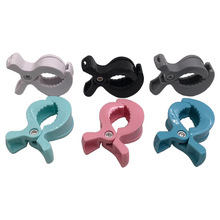 1PCS New Plastic Baby Toys rattles Accessories Pram Stroller To Hook And Toys Blanket Clips Universal Clip Candy color