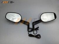 Schwarz Rückansicht Spiegel Muscle LED Blinker Licht fall für Harley V-ROD V ROD VRSCF