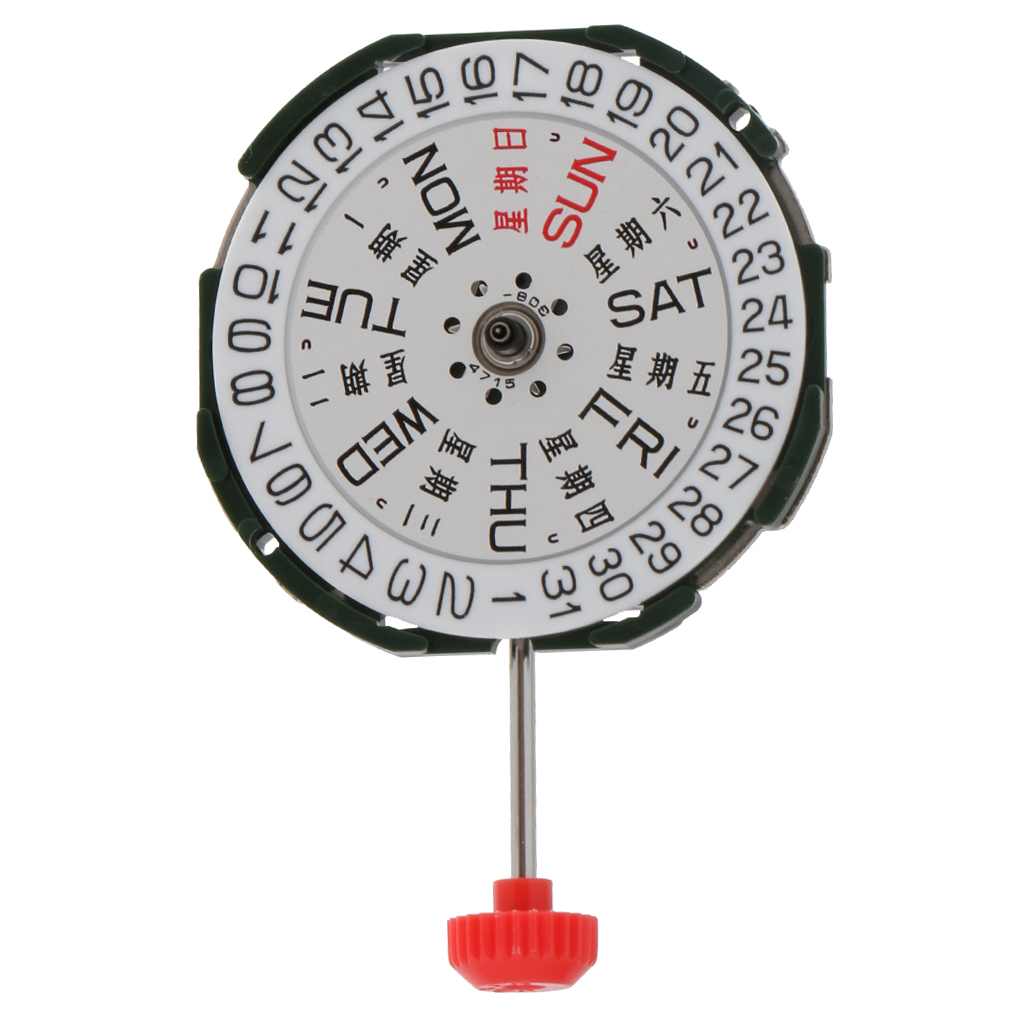 Metal Round Quartz Watch Movement Double Roller Calendar Battery Included For Miyota 2035 Repair Tools
