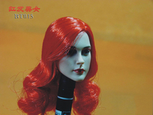 Actions figure Accessories 1/6 Scale Head Sculpt Female Carving Red Hair Hair 12