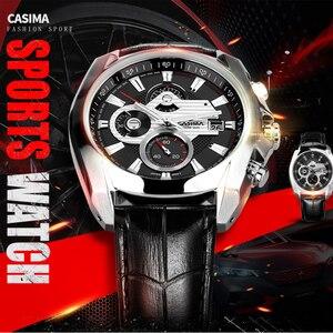 Image 3 - Reloj de lujo para Hombre, Reloj Masculino de pulsera, deportivo, militar, de cuarzo, cronógrafo luminoso