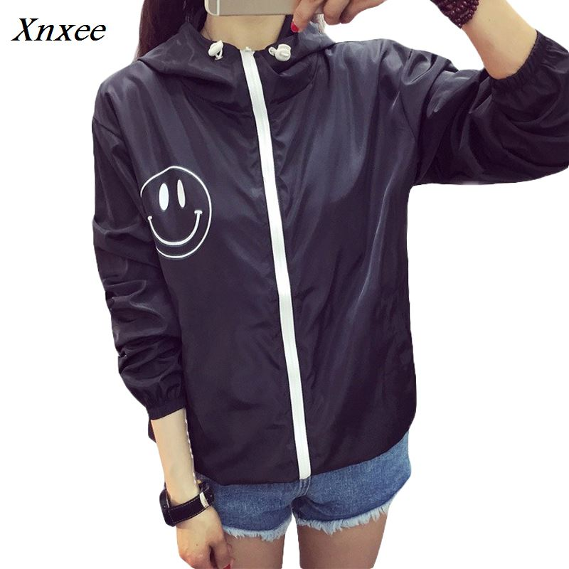 Women   Basic     Jacket   New Fashion Hooded Thin Outwear High Quality Windbreaker Female Summer/Spring Sunscreen   Jacket   2018 Xnxee