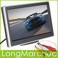 5 Polegada TFT LCD 480x272 Painel Digital Color Monitor Do Carro Traseiro View Monitor Com 2 Vias de Entrada de Vídeo Para Câmera Reversa DVD