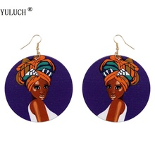 YULUCH 1 Pair Retail Natural African Wooden Earring Handmade Woman Earrings Personalized Style For Girls Latest