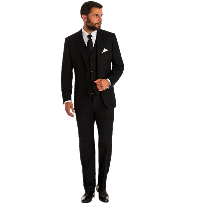 Hot sell Suits Men Wedding occasion custom Grooms Tuxedos Slim Fit New Arrival Jacket+Pants+ Vest three-piece ...
