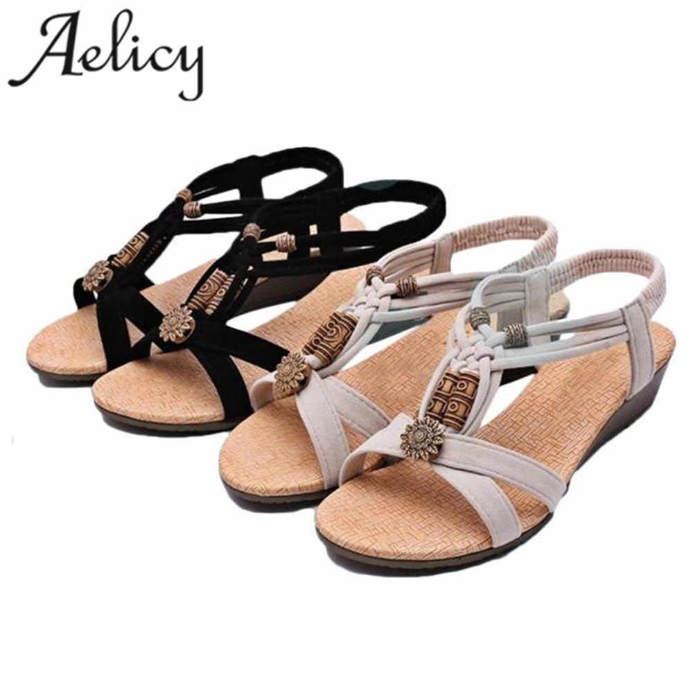SAGACE 2018 Hot New Fashion Light High Quality Women Girls Casual Peep-toe Flat Buckle Shoes Roman Summer Sandals