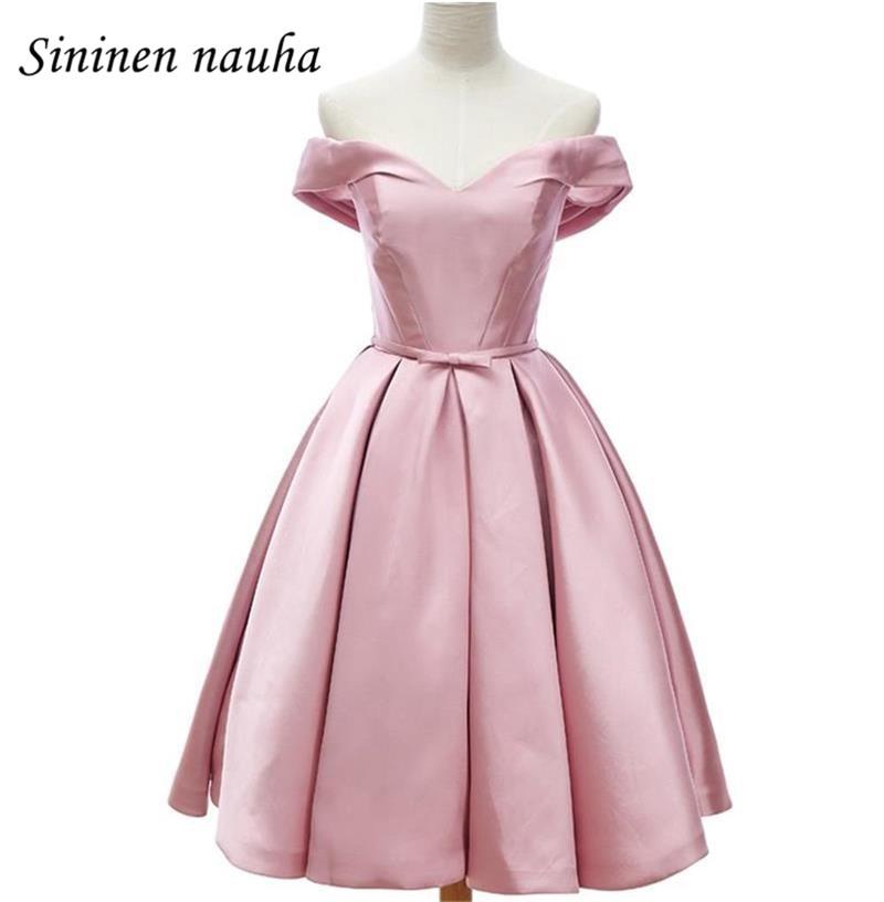 Discount Designer Dresses Cocktail: Short Prom Dress Homecoming Dresses 2018 Off The Shoulder