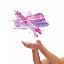 Saleaman Flying Unicorn Figure Magically Flutter Pegasus Dolls Fairy Toys Control Horse