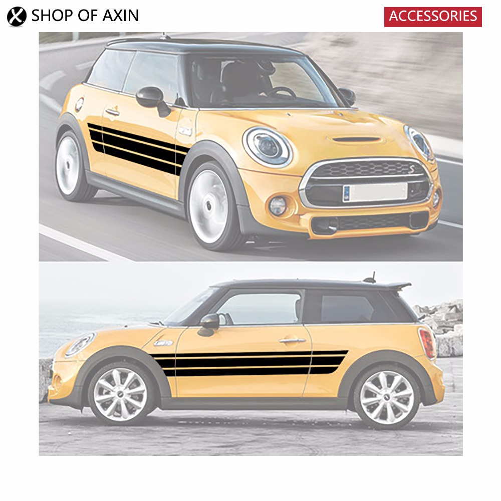 Car Door Roker Panel Decoration Sticker For Mini Cooperclubman countryman hardtop R50 R53 R55 R56 R60 R61 F54 F55 F56 F60 aliauto car styling car side door sticker and decals accessories for mini cooper countryman r50 r52 r53 r58 r56