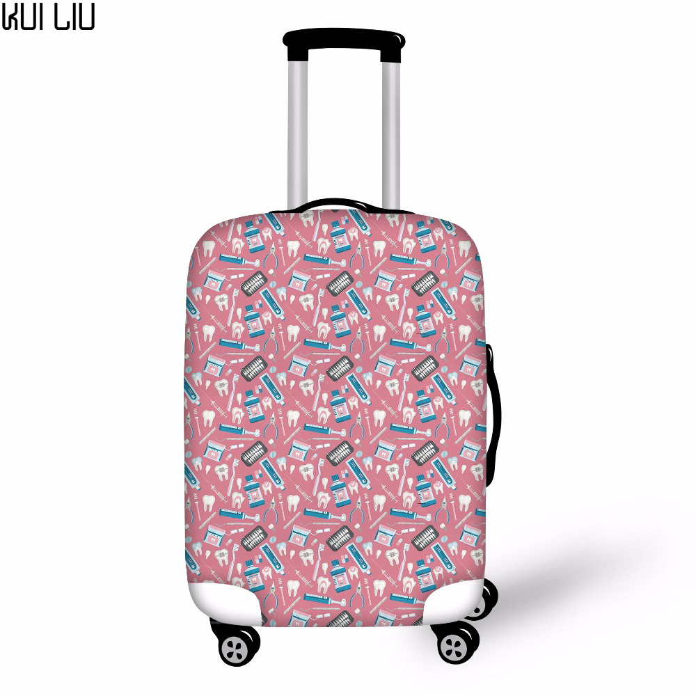 Customized Image Dentist Pattern Travel Luggage Cover Fashion Trolley Suitcase Protect Dust Bag Case Travel Accessories Supplies