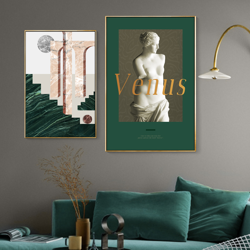 >Printed Wall Pictures Home Sexy Girl Art Statue Geometric Painting <font><b>Nordic</b></font> <font><b>Letter</b></font> <font><b>Style</b></font> Poster Canvas Artwork Living Room Decor