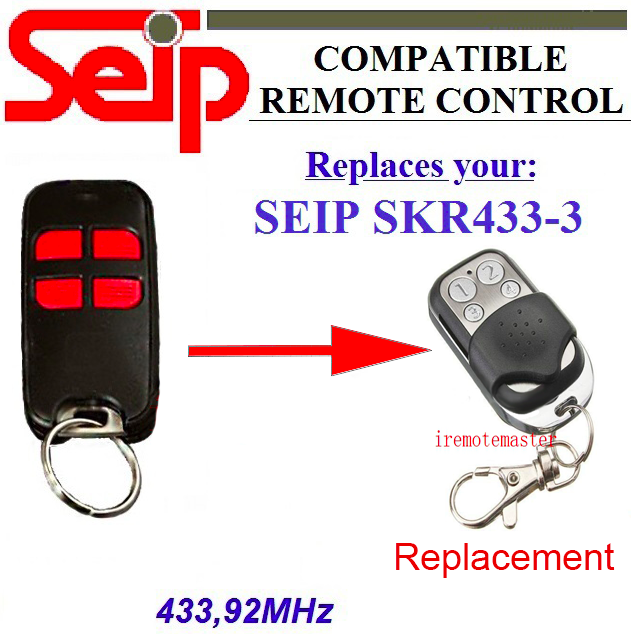 20pcs Seip SKR433-3 garage door replacement 433mhz remote DHL free shipping seip skr433 1 replacement 433 92mhz remote control dhl free shipping