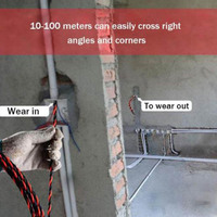 Elektriker Draht Threading Gerät Bindemittel Kit Kabel Guider Puller Verdrahtung Installation Hilfe Werkzeug LO88-in Handwerkzeug-Sets aus Werkzeug bei