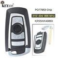 KEYECU 315/434/868 МГц PCF7953 чип CAS4 +/FEM KR55WK49863 Замена 4 кнопки дистанционного ключа Fob для BMW 1 2 3 4 5 6 7 серии X3 M2
