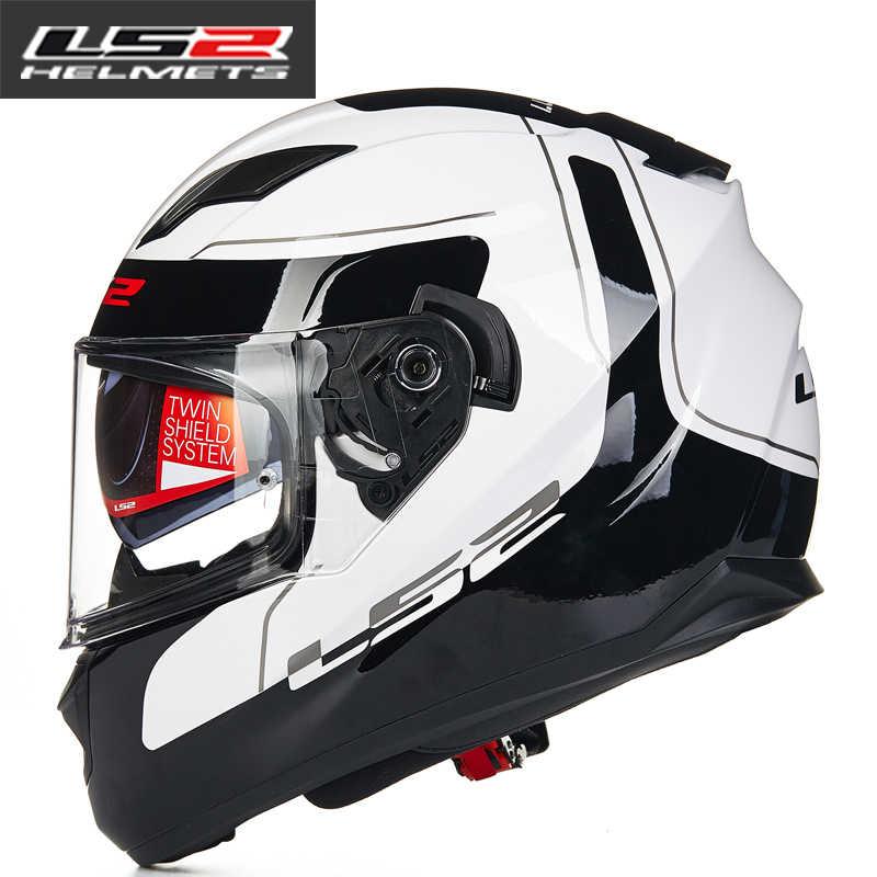 ed1ff8aa9a4 ... 100% original LS2 FF320 motorcycle helmet with inner sun visor full  face helmet double lens ...