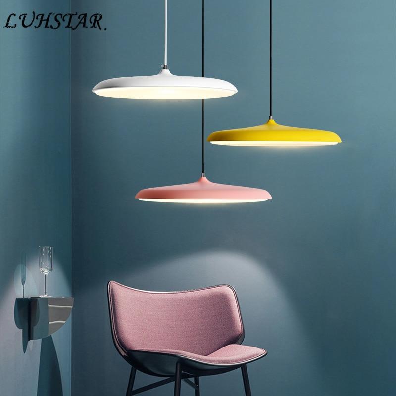 Moderne Minimalistische Led Verlichting Hanglamp Schijf Salon Home Decor Hanglampen Eetkamer Keuken Salon Cafe Led Opknoping Lamp