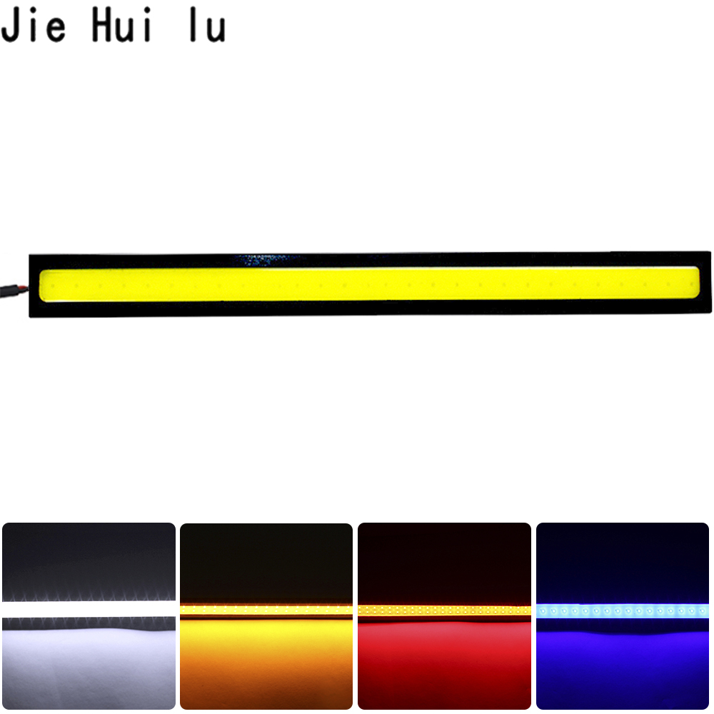 цены 1Pcs Car styling Ultra Bright 12W LED Daytime Running lights DC 12V 17cm 100% Waterproof Auto Car DRL COB Driving Fog lamp