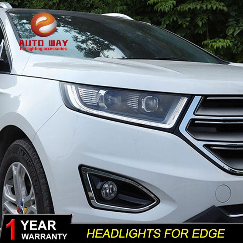 Styling mobil Kepala Lampu kasus untuk Ford Edge 2015-2018 Lampu LED - Lampu mobil - Foto 4