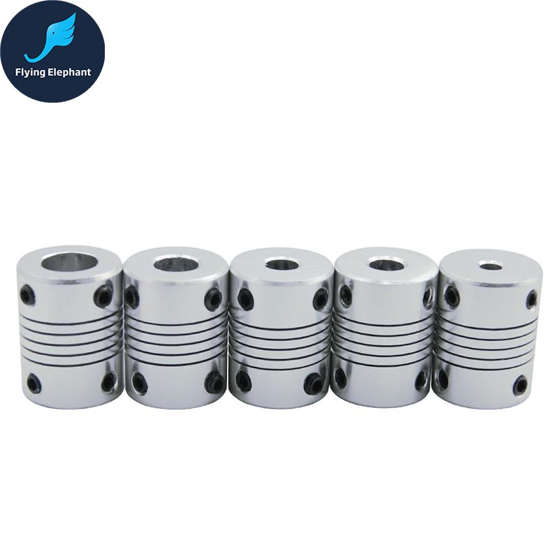 ID6.35*8mm D19*L25 Aluminium CNC Stepper Motor Flexible Shaft Coupling Coupler Encoders Engraving Machine Coupling