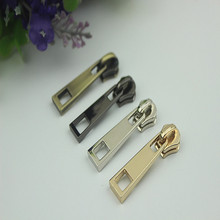 10pcs Meetee 5# Metal Zipper Pull Zip Slider Alloy Head Lock Suitcase for Sewing Garment Bags Luggage Hardware Fittings