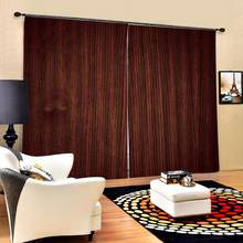 Brown woods curtains Nature Art Print, Drapes Living room Bedroom Decor 2 Panels HooksWindow Curtains Blackout curtain(China)