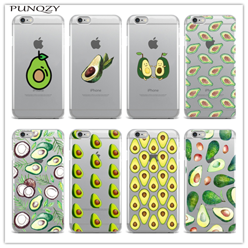 avocado Phone Cover Case For iPhone 6 6S Plus 5 5S SE 4 4S 5C 7 7Plus Transparent TPU soft Silicone protective Cover Coque